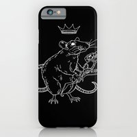 iPhone & iPod Case featuring Rat King (white) by heymonster
