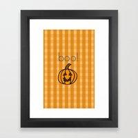 October, boo! Framed Art Print