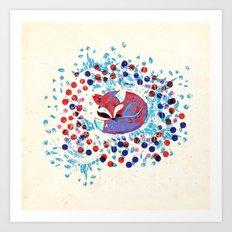 Berry fox - nostalgic Art Print