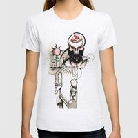 Sketch 2 Womens Fitted Tee Ash Grey SMALL