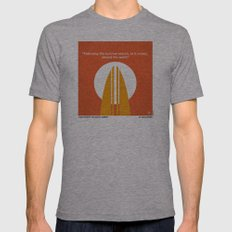 No274 My The Endless Summer minimal movie poster Mens Fitted Tee Athletic Grey SMALL