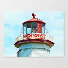 North Cape Lighthouse Top Canvas Print