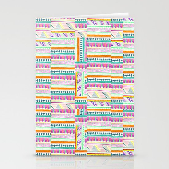 multicoloured AZTEC + Stationery Card