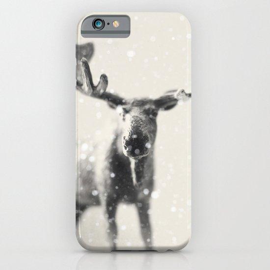 winter moose iPhone & iPod Case