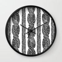 Cable Row Wall Clock