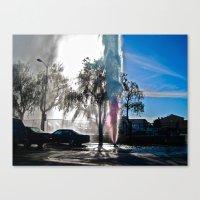 Rainbow Spray Canvas Print