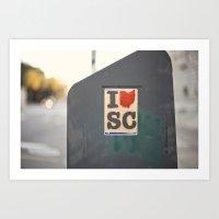 southern love::charleston Art Print