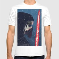 Kylo (Knight Of Ren) Mens Fitted Tee White SMALL
