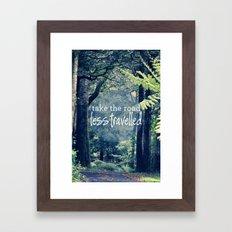 Take The Road Less Travelled Framed Art Print