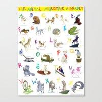 The Animal Adjective Alphabet Canvas Print