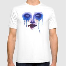 Blue Eyes Mens Fitted Tee SMALL White