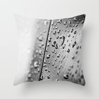 Black And White Drops Throw Pillow