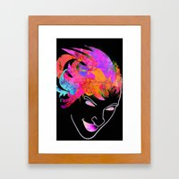 Neon-Man Framed Art Print