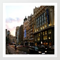 Gran Vía - Madrid Art Print