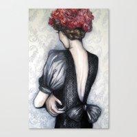 Wallflower // Fashion Il… Canvas Print