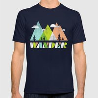 Wander  Mens Fitted Tee Navy SMALL