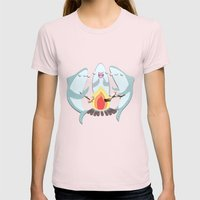 A Shiver Of Sharks Womens Fitted Tee Light Pink SMALL
