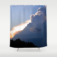 Clouds No.2   -  Sunset Shower Curtain