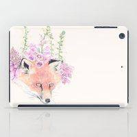Fox & Foxgloves // Cream iPad Case