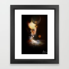 Silver Circle [Digital Figure Illustration] 3 Framed Art Print