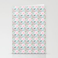 Shabby Chic Roses And Bl… Stationery Cards