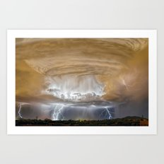 Arizona Monsoon Mesocyclone Art Print