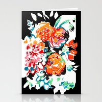 Brush Floral Stationery Cards