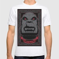 Garrosh Mens Fitted Tee Ash Grey SMALL