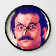 Wall Clock featuring Young Mr. Bill Murray by Thubakabra
