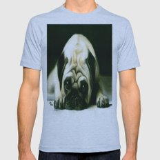 PUG POWER OUTAGE Mens Fitted Tee Athletic Blue SMALL