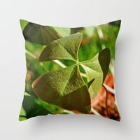 Shamrock Closeup Throw Pillow