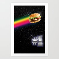 #1 Burger Art Print