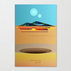 Return of the Jedi Minimal Film Poster Canvas Print