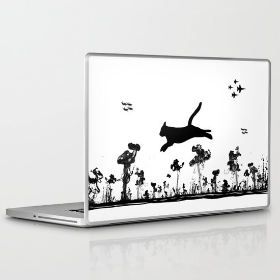 The Cat and Ink drop bombs Laptop & iPad Skin
