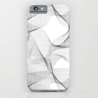 iPhone Cases featuring black and white shapes pattern by Daphna Dotan
