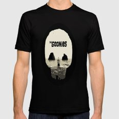 THE GOONIES Mens Fitted Tee Black SMALL
