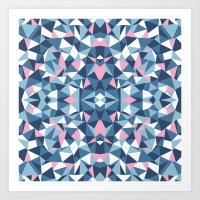 Abstract Collide Blue An… Art Print