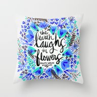 The Earth Laughs In Flow… Throw Pillow