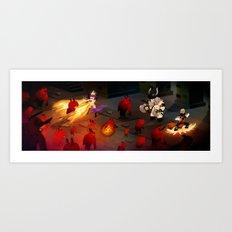 Cute Dungeon Crawling Art Print