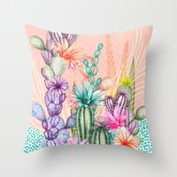 Cacti Love Throw Pillow