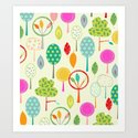 Trees Pattern Print Art Print