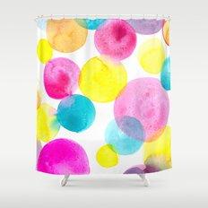 Confetti paint Shower Curtain