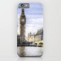 Westminster Bridge and Big Ben Art iPhone 6 Slim Case