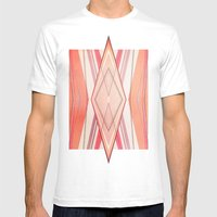 Money Pattern Respect Mens Fitted Tee White SMALL