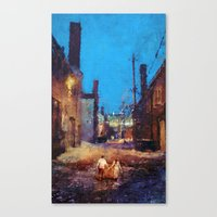 Lovers of the night Canvas Print