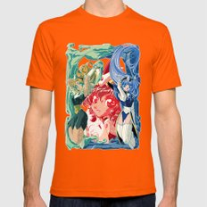Magic Knight Rayearth Pois Version Mens Fitted Tee Orange SMALL
