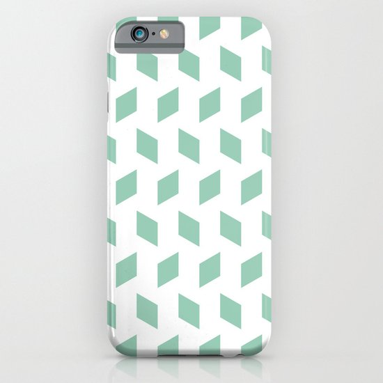 rhombus bomb in grayed jade iPhone & iPod Case