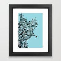 Shrubs in Blue Framed Art Print