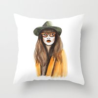 You can leave your hat on  Throw Pillow