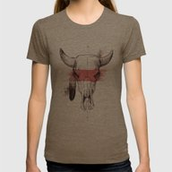 Raging Bull Womens Fitted Tee Tri-Coffee SMALL